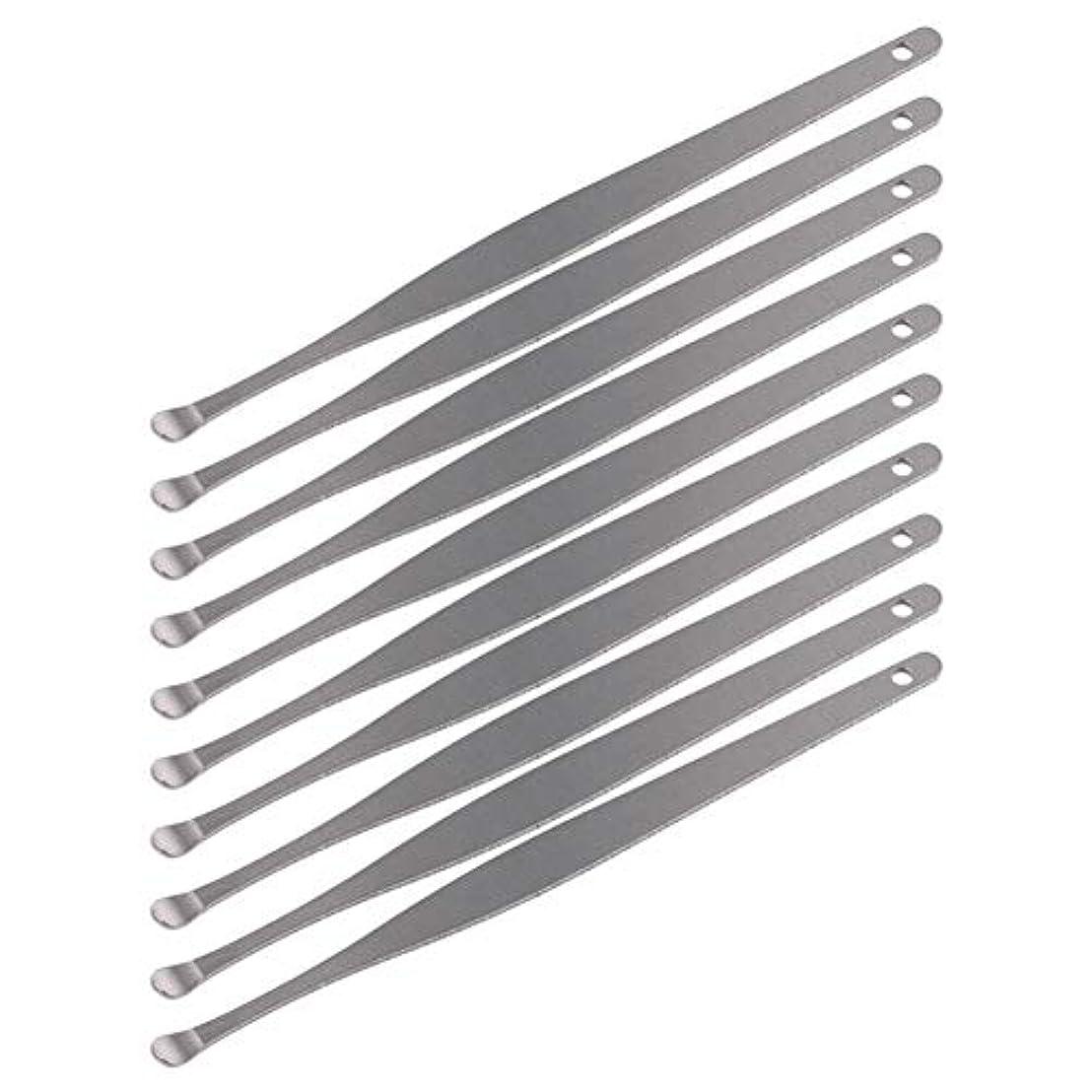 年次データブローZHQI-GH 3ピースステンレス鋼イヤーピックワックスクリーナーイヤーピックカレットリムーバーイヤーワックス取り外しイヤーケアツール28 (色 : Silver)