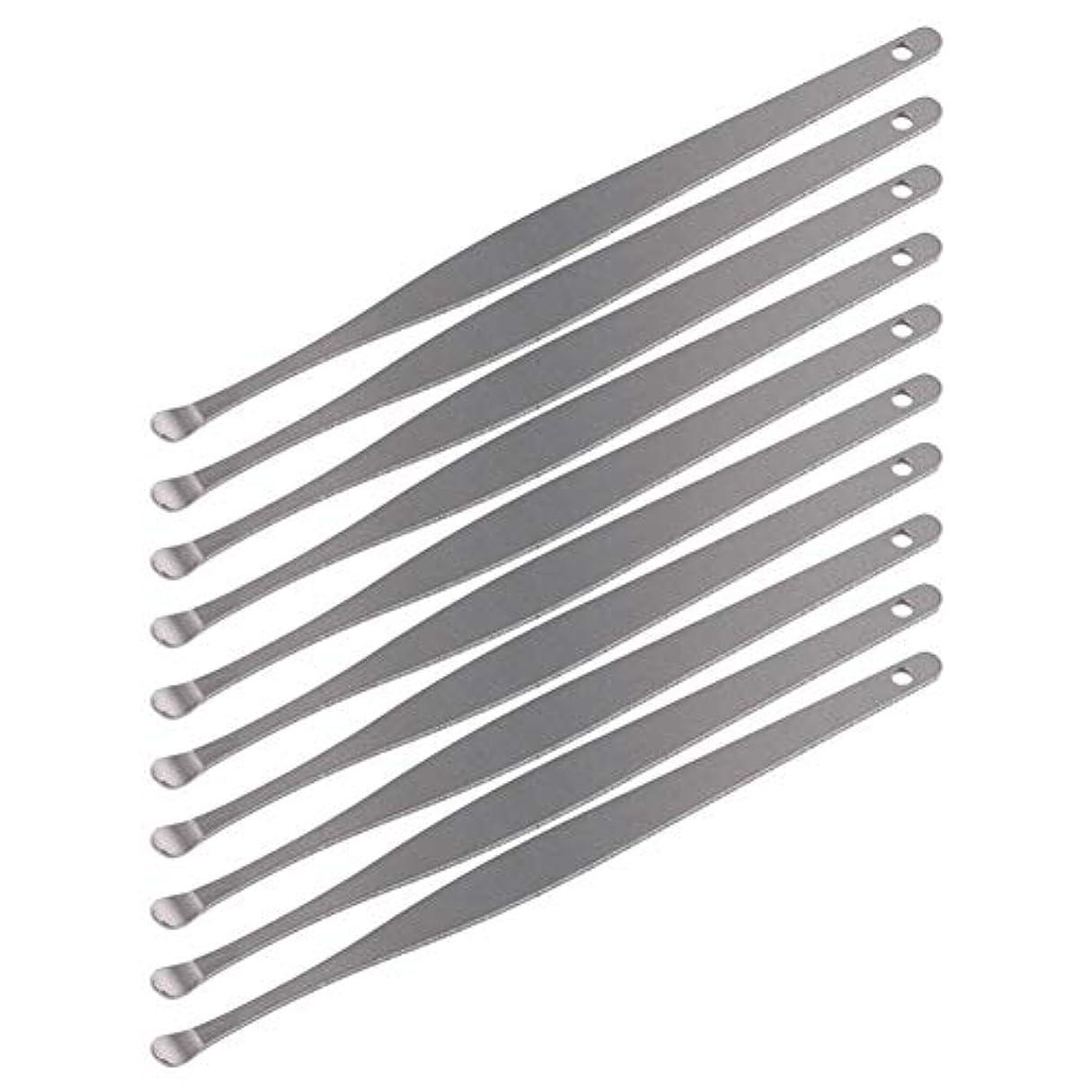 適度に無能ねばねばZHQI-GH 3ピースステンレス鋼イヤーピックワックスクリーナーイヤーピックカレットリムーバーイヤーワックス取り外しイヤーケアツール28 (Color : Silver)