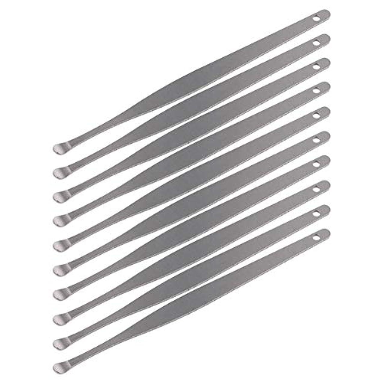 他の日錫安定しましたZHQI-GH 3ピースステンレス鋼イヤーピックワックスクリーナーイヤーピックカレットリムーバーイヤーワックス取り外しイヤーケアツール28 (色 : Silver)