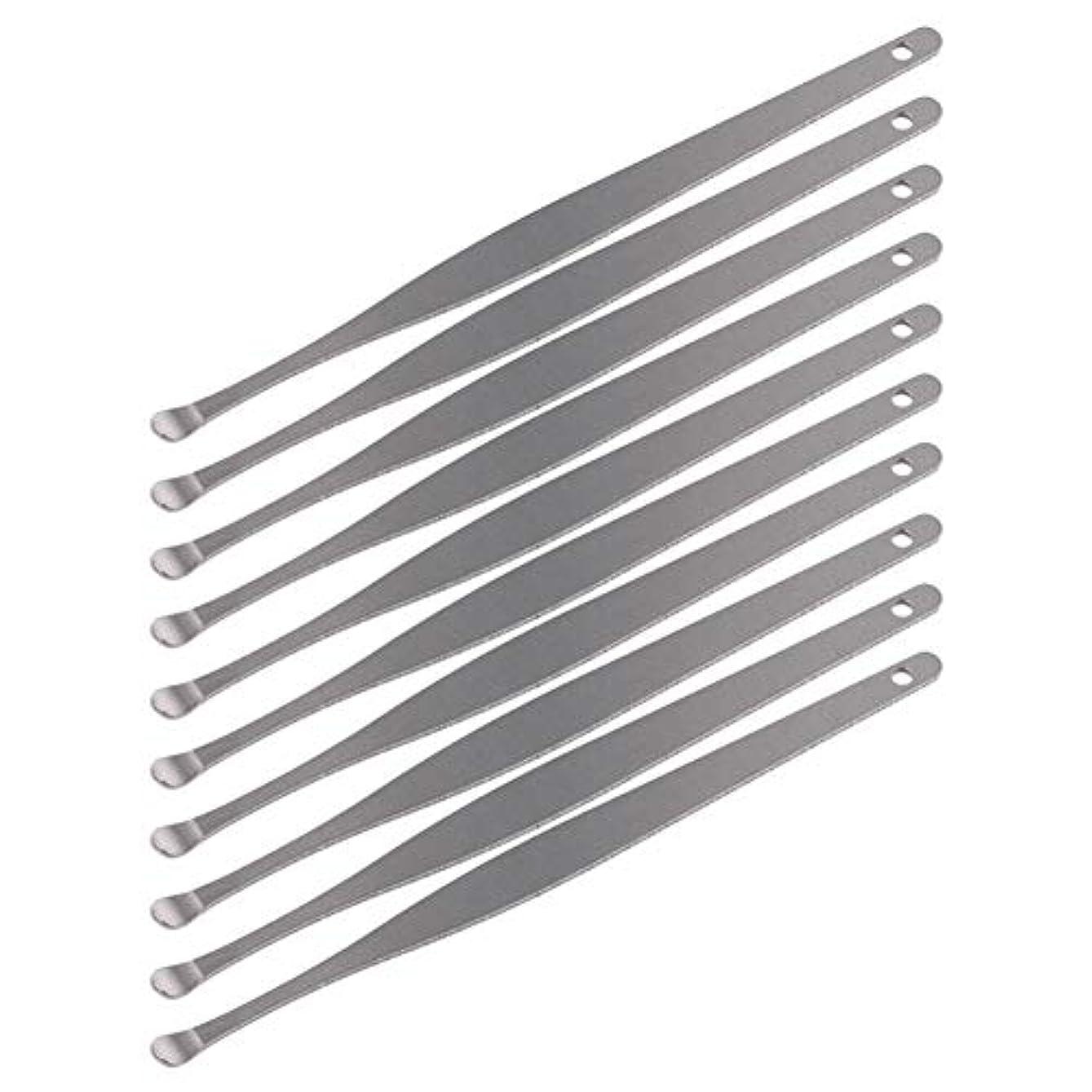 名門統計的ウェイトレスZHQI-GH 3ピースステンレス鋼イヤーピックワックスクリーナーイヤーピックカレットリムーバーイヤーワックス取り外しイヤーケアツール28 (Color : Silver)