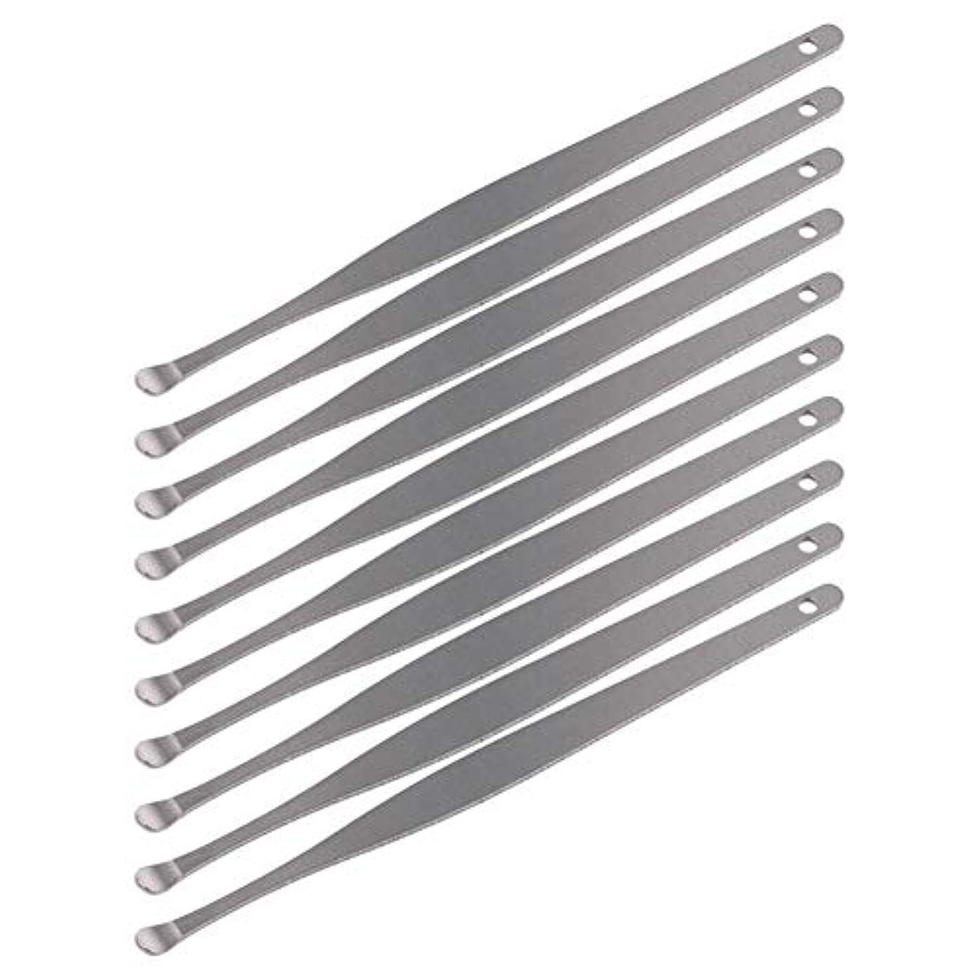 全国真向こうレンチZHQI-GH 3ピースステンレス鋼イヤーピックワックスクリーナーイヤーピックカレットリムーバーイヤーワックス取り外しイヤーケアツール28 (Color : Silver)