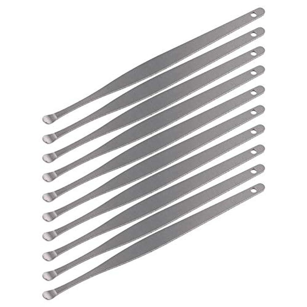 小屋才能これまでZHQI-GH 3ピースステンレス鋼イヤーピックワックスクリーナーイヤーピックカレットリムーバーイヤーワックス取り外しイヤーケアツール28 (Color : Silver)