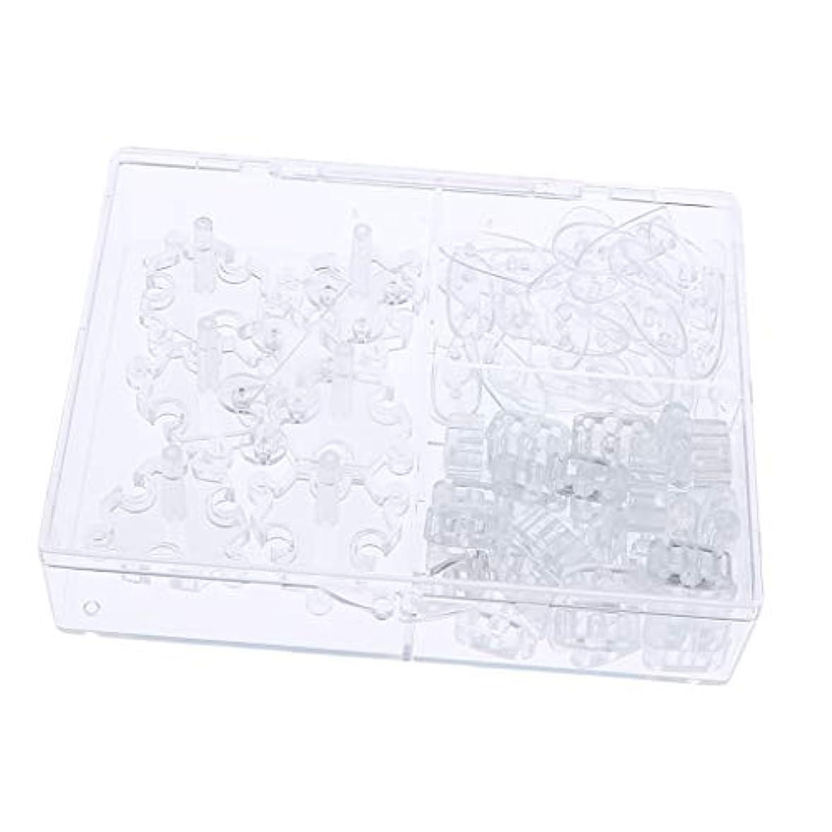 収縮スクラップブックファウルToygogo 107pcsプロサロンネイルアートチップディス取り外し可能なネイルアートトレーニング練習ツール
