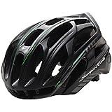 ACHICOO ヘルメット LEDライト付き 自転車 カバー MTB マウンテン ロード サイクリング バイク プロテクター 濃い緑色 ワンサイズ