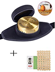 54 Rolls Pure Mugwort moxibustion +ポータブルMoxa Acupunctureポイントネックパッドラウンド形状Burnerボックス