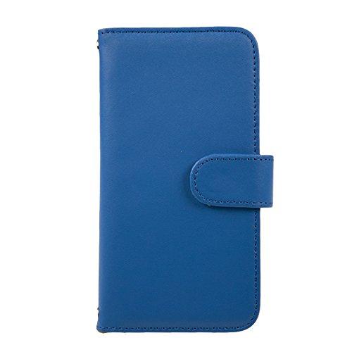[スマ通] XPERIA X F5121 / F5122 スマホケース スマホカバー 携帯ケース 携帯カバー 手帳型 本革 ブルー SONY ソニー エクスペリア エックス SIMフリー 海外端末