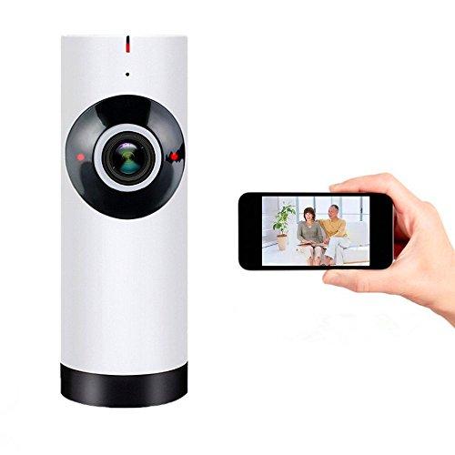 ELEGIANT ベビーモニター 防犯カメラ 監視カメラ ネットワークカメラ 魚眼レンズ 高画質 100万画素 microSDカード録画 屋内用 赤外線スマートベビーモニター Wifiビデオモニター 1
