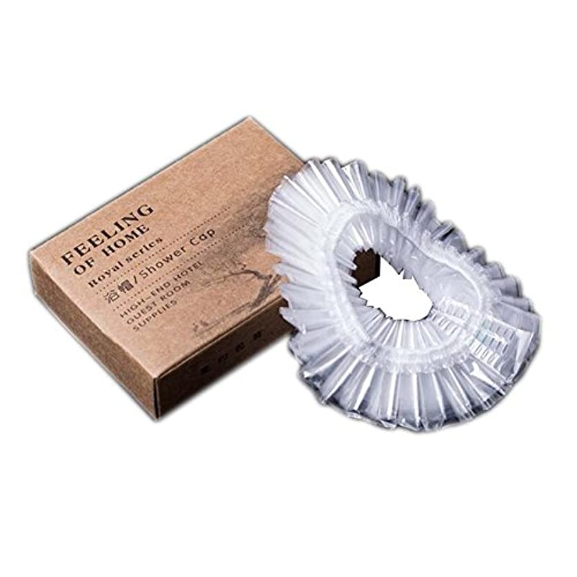 痛い切手レスリング使い捨てのシャワーキャップはホテル50のPCのシャワーキャップを個別にラップ