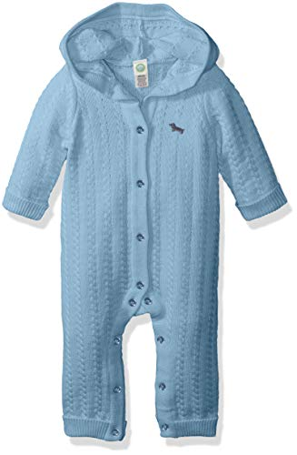 Little Me Baby-Boys LCE07603N Sweater Coveralls Layette Set - Blue - 9 Months