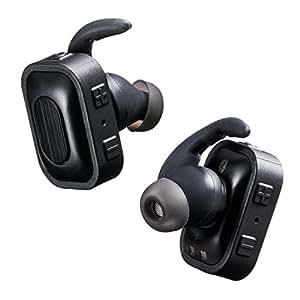 サンワダイレクト 完全ワイヤレスイヤホン Bluetoothイヤホン 両耳 片耳 対応 コンパクト 充電専用ケース付 iPhone スマホ 対応 400-BTSH004