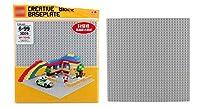 下部のプレートは組み立てブロックの下部プレートに挿入されます。小さなパーティクル。子供の教育玩具アクセサリー3232パーティクル。 グレイ