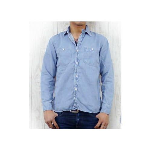 (スペルバウンド)SPELLBOUND ワークシャツ デニム ライトユーズドウォッシュ 46-025E 4 21-2ライトユーズドウォッシュ