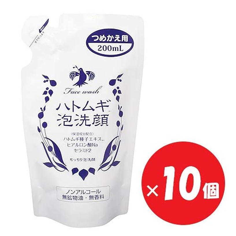 適合しました山反響するハトムギ泡洗顔 つめかえ用 200mL×10個セット
