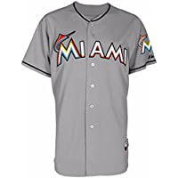 Majestic Athletic Miami Marlins空白Authentic Road Cool Base Jerseyサイズ52