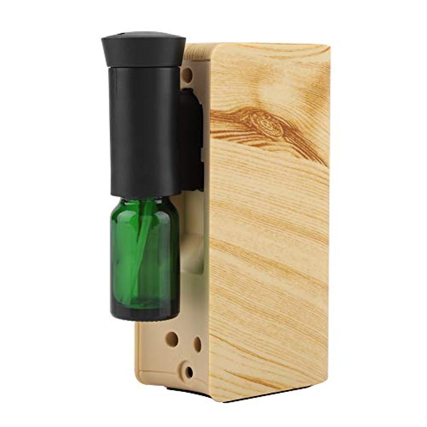 脈拍正確なスペインエッセンシャルオイルディフューザー、100ml USB充電式クールミスト加湿器アロマオイル加湿器気化器アロマディフューザー(木材)