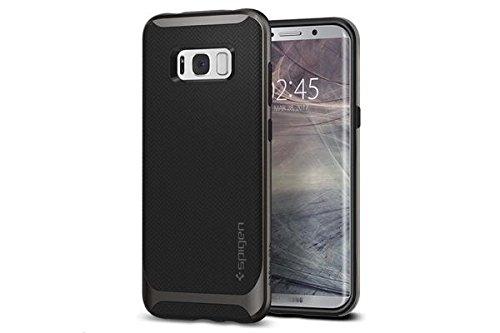 【Spigen】 Galaxy S8 ケース, [ 二重構造 バンパー ] [ Qi 充電 対応 ] [ 米軍MIL規格取得 ] [ 落下 衝撃 吸収 ] ネオ・ハイブリッド ギャラクシー S8 カバー (Galaxy S8, ガンメタル)