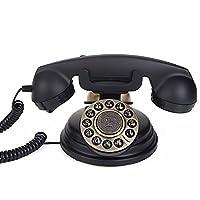 電話アンティークヨーロッパの牧歌的なレトロヨーロッパの家レトロアメリカの地上線の黒の電話