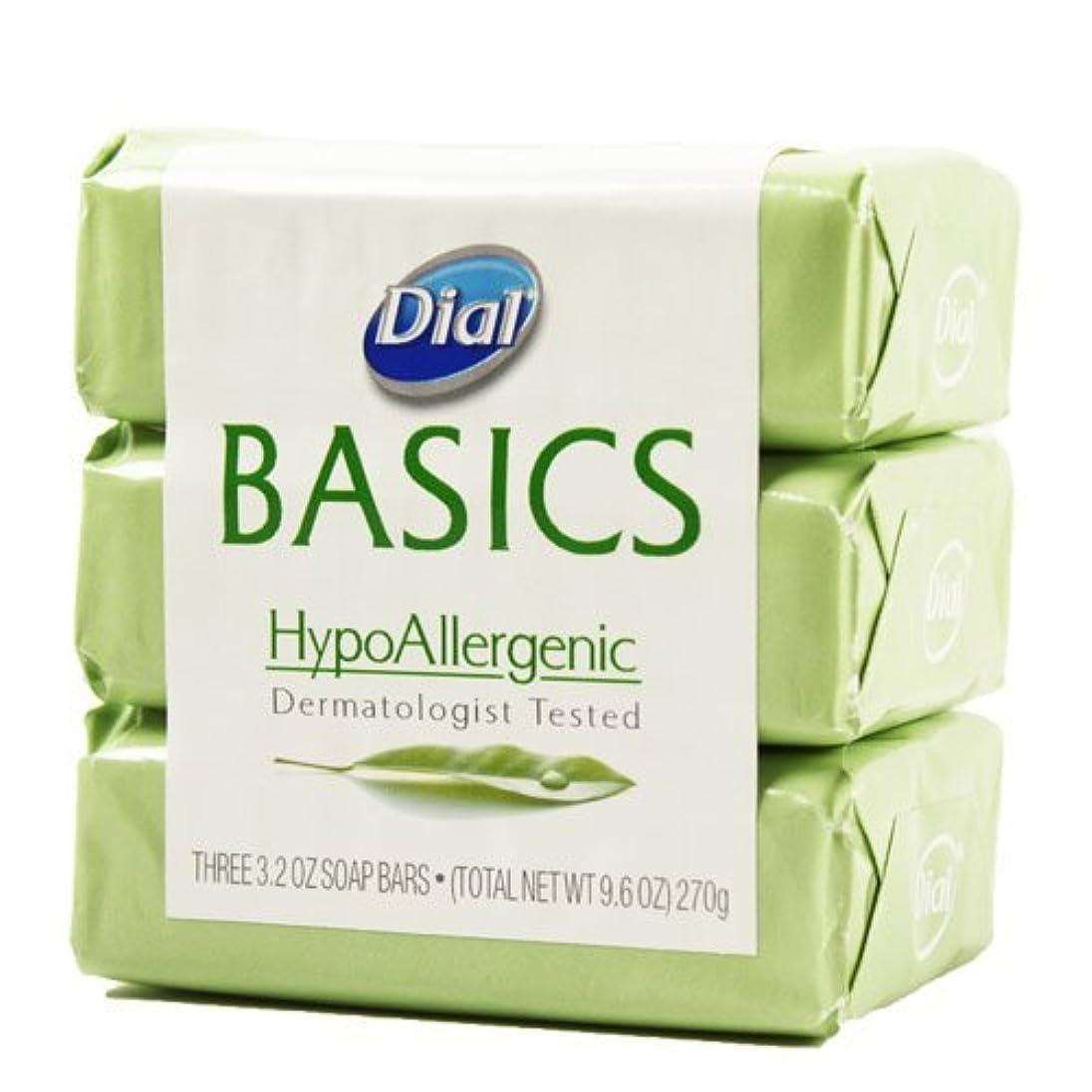 モナリザ腐食する夕方Dial Basics HypoAllergenic Dermatologist Tested Bar Soap, 3.2 oz (18 Bars) by Basics