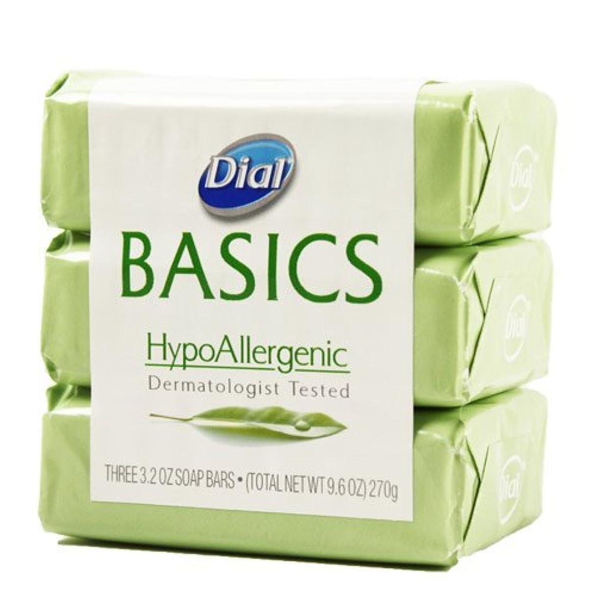 忌まわしいテセウスメーカーDial Basics HypoAllergenic Dermatologist Tested Bar Soap, 3.2 oz (18 Bars) by Basics