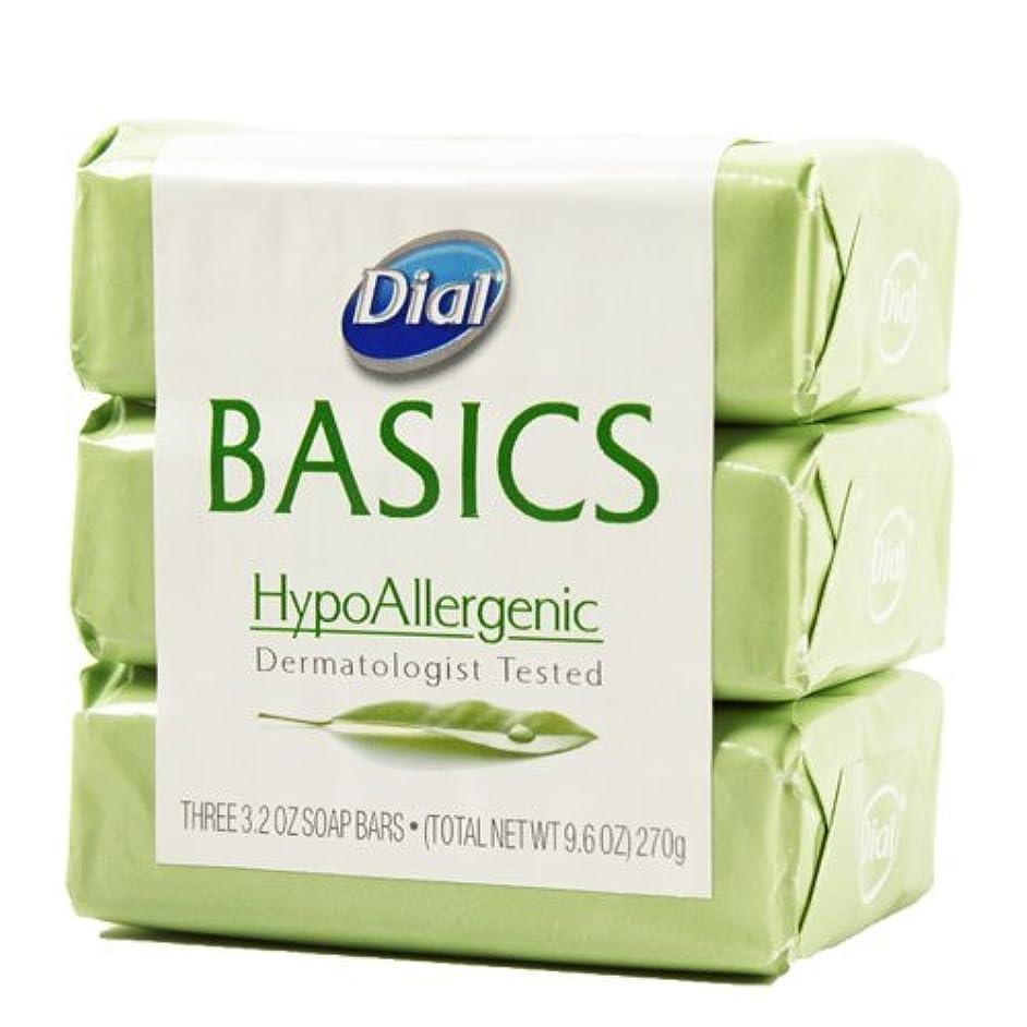 ソーシャル冷蔵庫クライマックスDial Basics HypoAllergenic Dermatologist Tested Bar Soap, 3.2 oz (18 Bars) by Basics