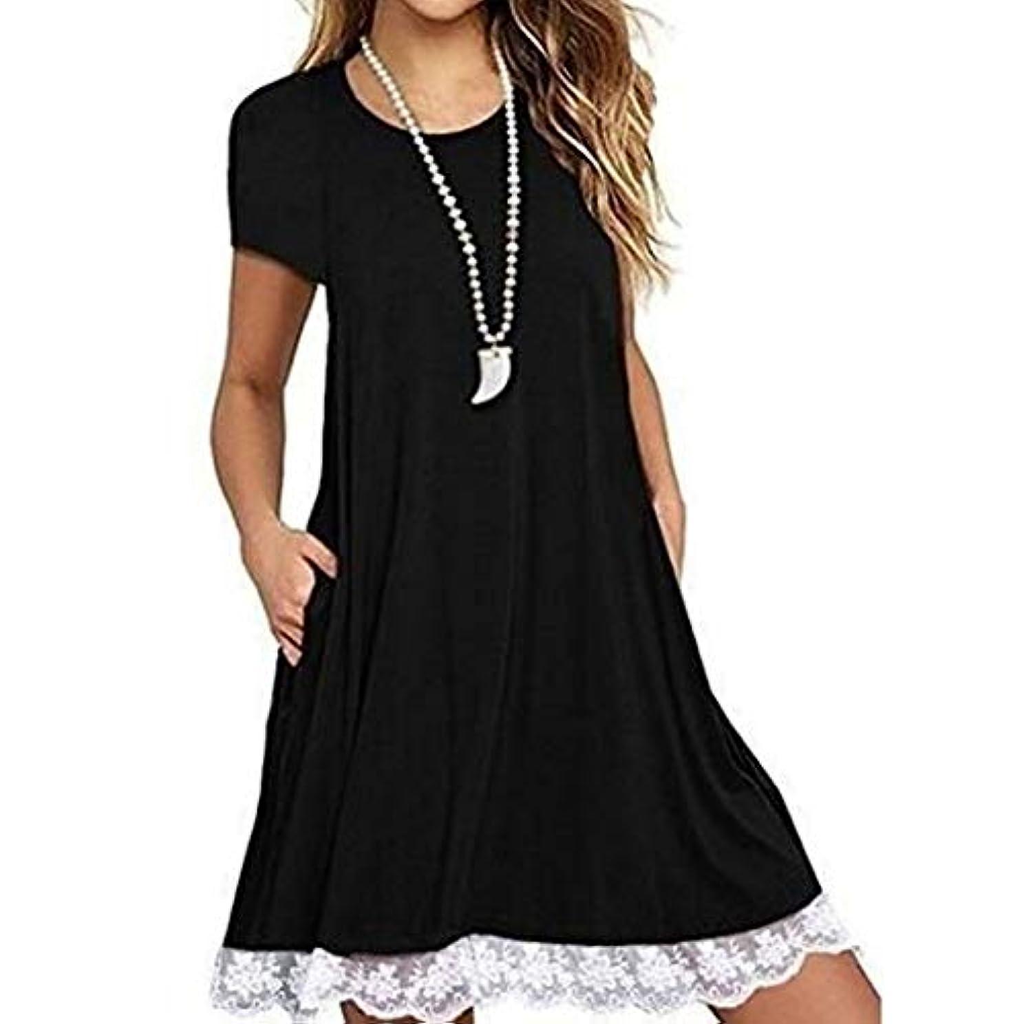 海洋専門化するガイドMIFAN の女性のドレスカジュアルな不規則なドレスルースサマービーチTシャツドレス