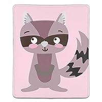 マウスパッド レーザー&光学式マウス対応 かわいいと驚いてアライグマ野生動物 マウス パッド おしゃれ 滑り止め 防水 ラップトップ MacBook pro/DELL/HP/SAMSUNG などに(18x22x0.3cm)