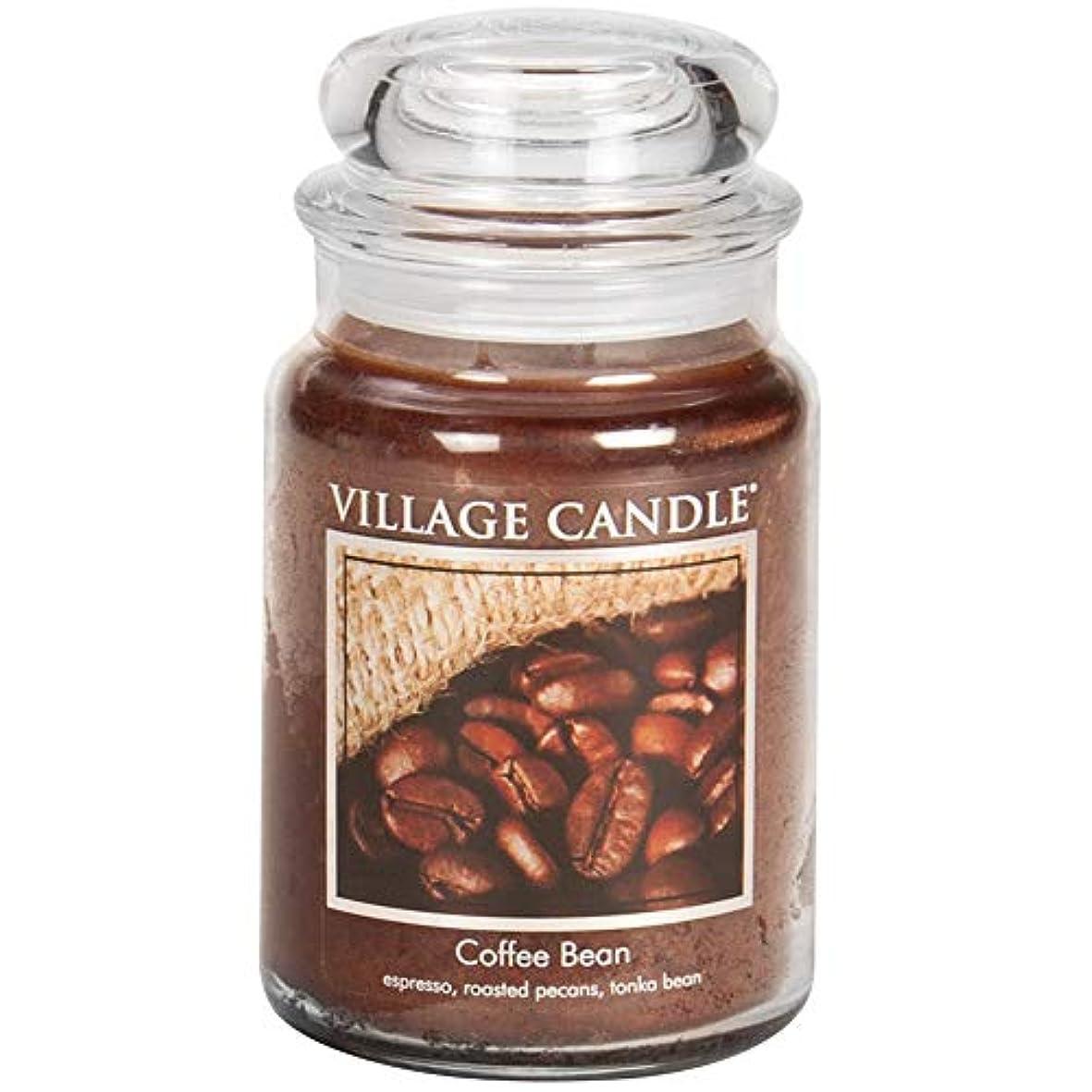 統合ボーナス髄Village Candle Scented Large Jar 26oz - COFFEE BEAN by Village Candle