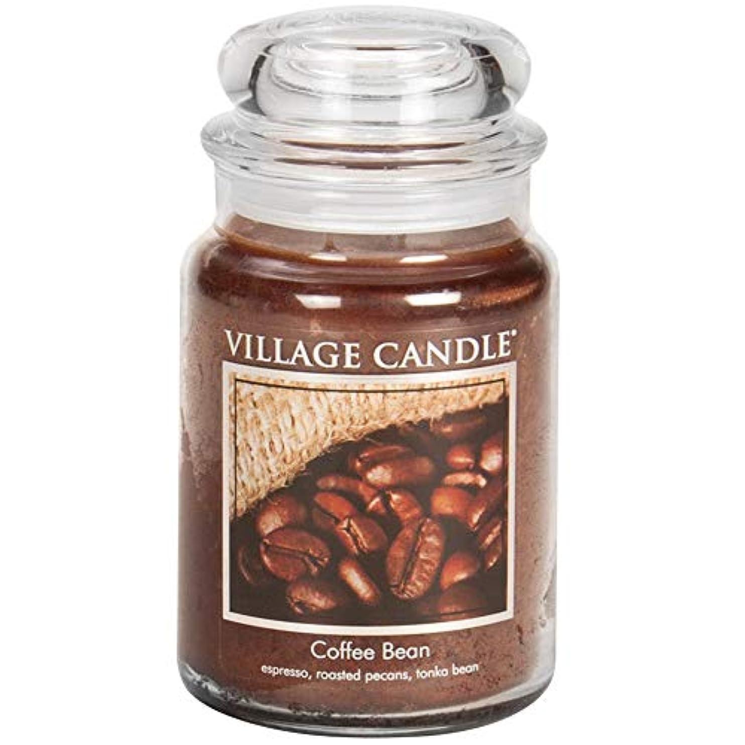 リネン財団教育学Village Candle Scented Large Jar 26oz - COFFEE BEAN by Village Candle