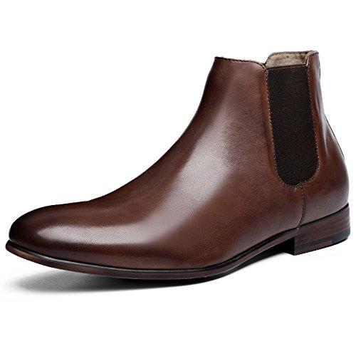 (フォクスセンス) Foxsense ブーツ ビジネスシューズ チェルシーブーツ サイドゴア ブーツ メンズ 革靴 本革 25.5cm ブラウン 6715