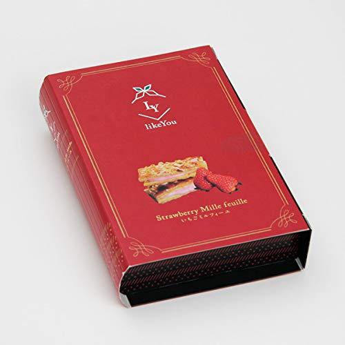 スイーツ 5個入り いちごミルフィーユ like You チョコレートクリーム 紅ほっぺ カラメリゼ アーモンド