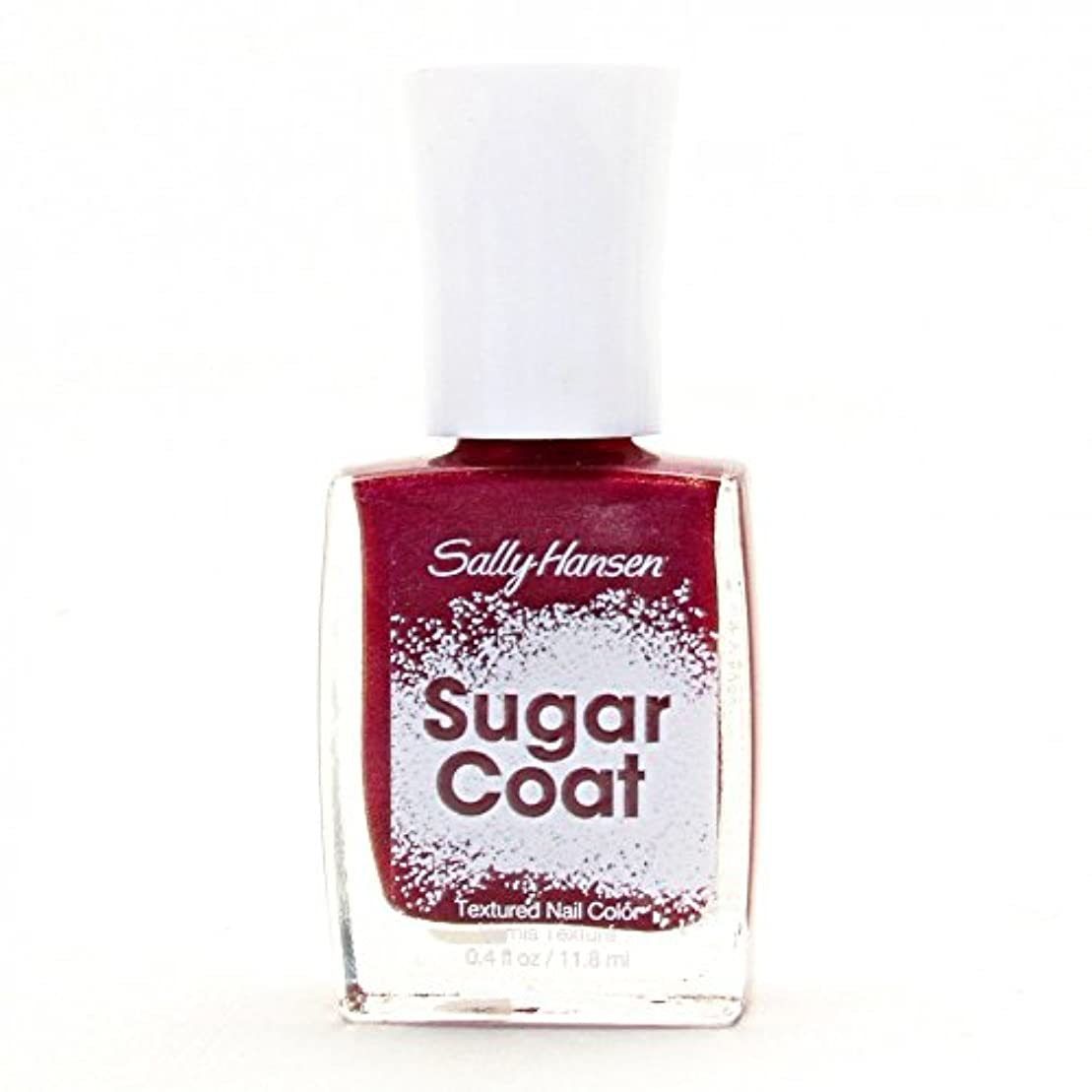 過度にチェスをするディスカウントSALLY HANSEN SUGAR COAT TEXTURED NAIL COLOR #240 RED VELVET