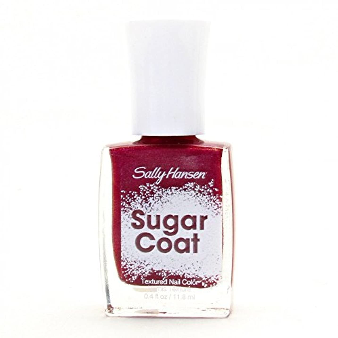 ヒロイック浪費航空機SALLY HANSEN SUGAR COAT TEXTURED NAIL COLOR #240 RED VELVET