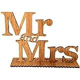 Lumierechat 結婚式 Mr&Mrs ミスター ミセス 木製 フォトアイテム 置き物 受付 テーブル ナチュラル a-b2551