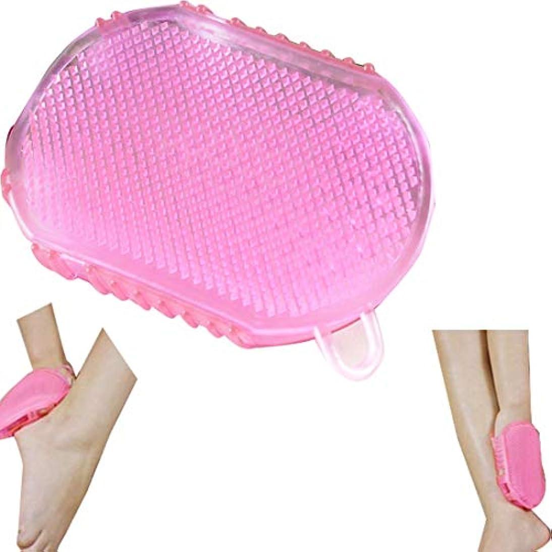 Tシリコンマッサージフットブラシ/フットグルーマー 足洗い用/バスブラシ、/フットブラシ/汚れ角質除去 ストレス解消