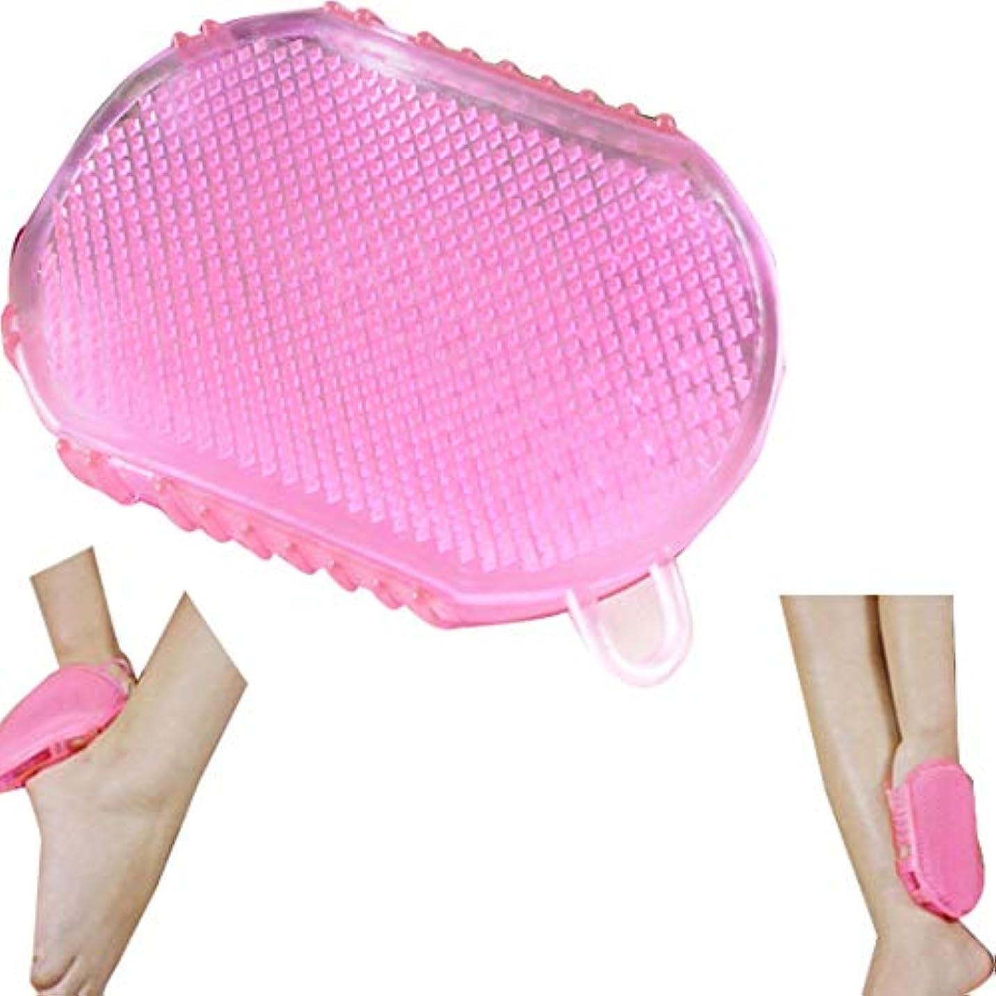 病コイル等Tシリコンマッサージフットブラシ/フットグルーマー 足洗い用/バスブラシ、/フットブラシ/汚れ角質除去 ストレス解消