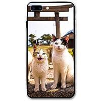 IPhone8 Plus ケース キュート猫 アイフォン8プラス 5.5Inch おしゃれ 薄型 超軽量 指紋防止 耐衝撃 スマホカバー 保護カバー