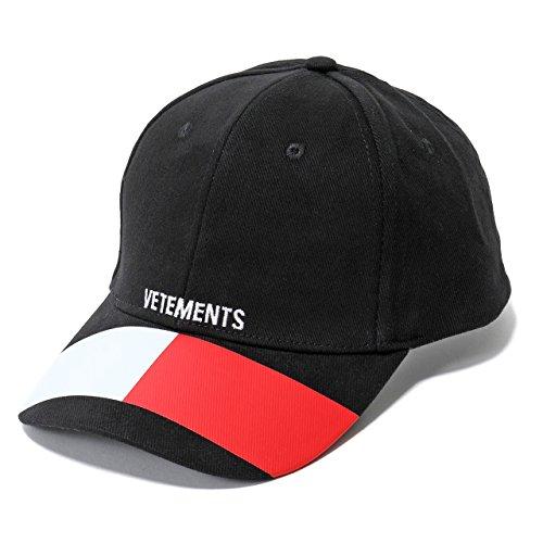 VETEMENTS ヴェトモン TOMMY HIFIGER トミーヒルフィガー コラボ Cap WSS18AC19 ベースボールキャップ 帽子 カラーBLACK BLACK/ブラック [並行輸入品]