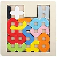 HuaQingPiJu-JP 高品質の木製のカラフルなパズルアーリーラーニングの数字の形の色の動物のおもちゃ子供のための素晴らしいギフト(数)