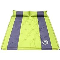 MORUDO エアーマット 空気マット キャンプ レジャーマット ダブル 二人用 自動膨張 厚さ3.5cm 昼寝 山登り 家族旅行 ホテル 防湿 通気性 収納バッグ付き 多機能