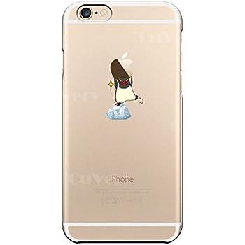 fccd463138 iPhone 各機種 対応【CuVery】 iPhone6 iPhone6S 対応 ハード クリア 透明 ケース レンズ 液晶保護 超軽量 薄型  保護フィルム付 ペンギン Appleは重い?