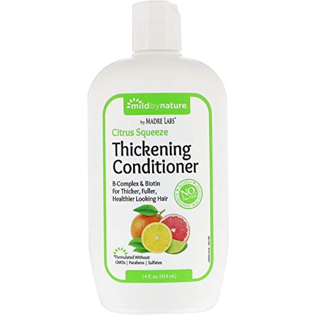 逆説拍手あえぎMadre Labs, Thickening B-Complex + Biotin Conditioner, No Sulfates, Citrus Squeeze、14液量オンス(414 ml)