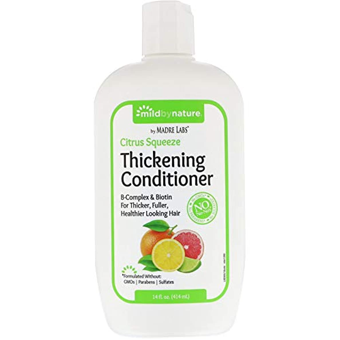 こっそり表示転送Madre Labs, Thickening B-Complex + Biotin Conditioner, No Sulfates, Citrus Squeeze、14液量オンス(414 ml)