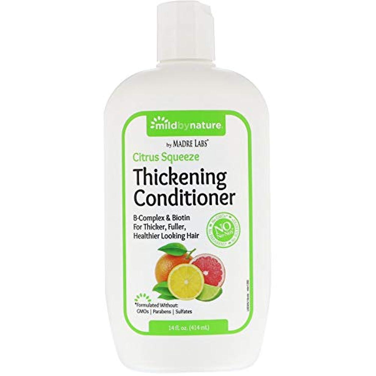 概してばかげた真剣にMadre Labs, Thickening B-Complex + Biotin Conditioner, No Sulfates, Citrus Squeeze、14液量オンス(414 ml)