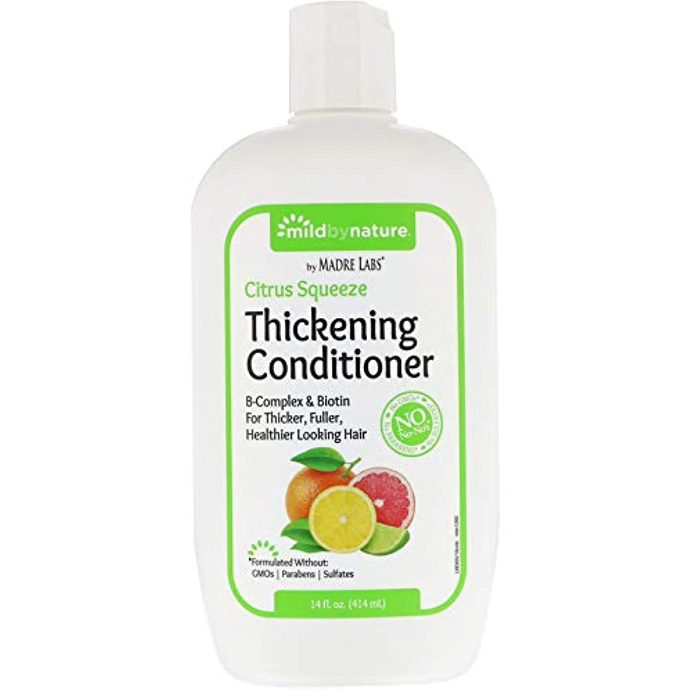 Madre Labs, Thickening B-Complex + Biotin Conditioner, No Sulfates, Citrus Squeeze、14液量オンス(414 ml)