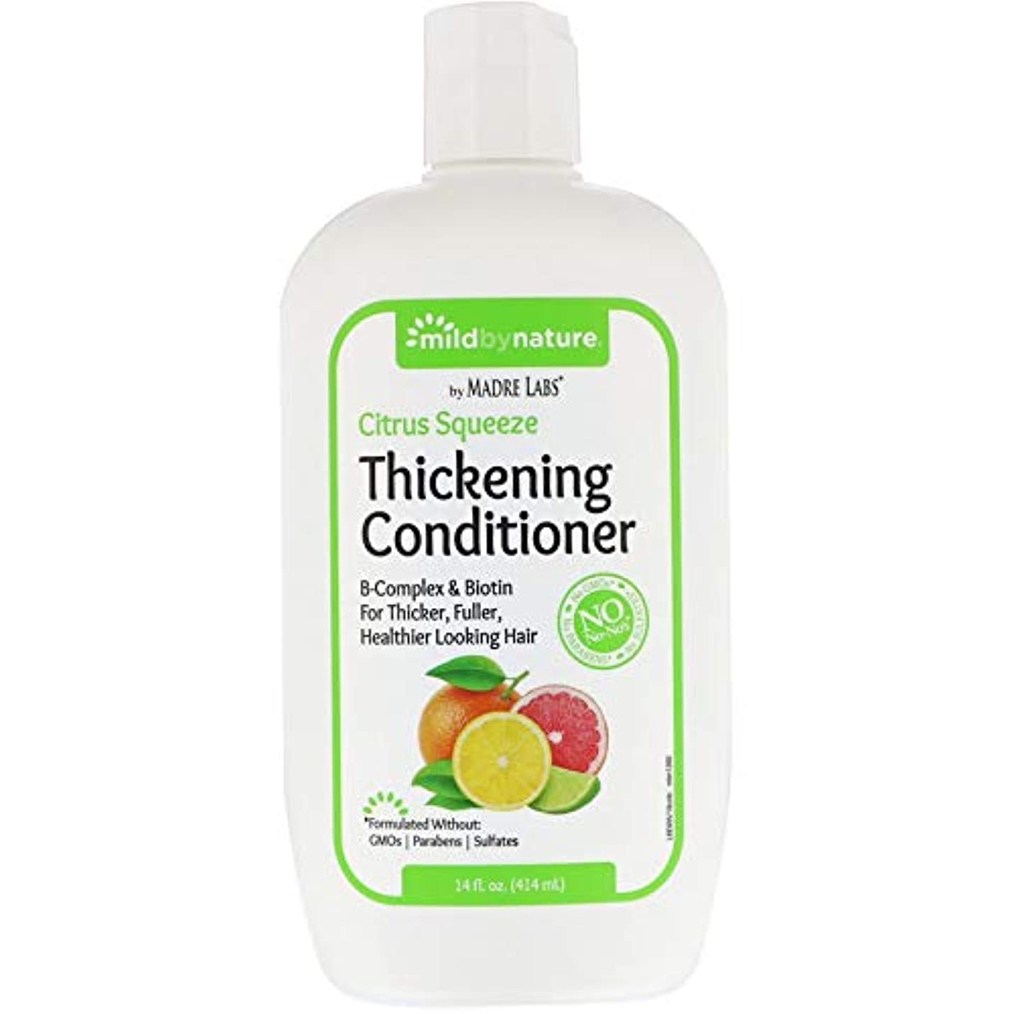 クローンお祝い不合格Madre Labs, Thickening B-Complex + Biotin Conditioner, No Sulfates, Citrus Squeeze、14液量オンス(414 ml)
