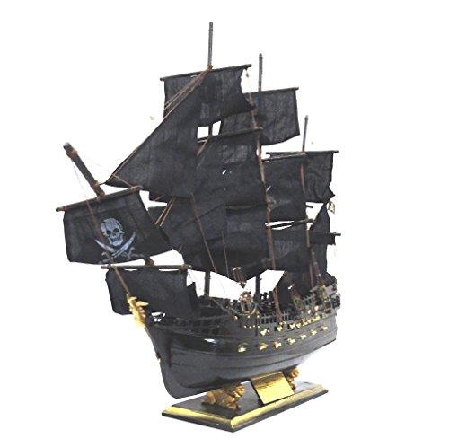 木製帆船模型 ブラックパール号 80センチ 完成品...