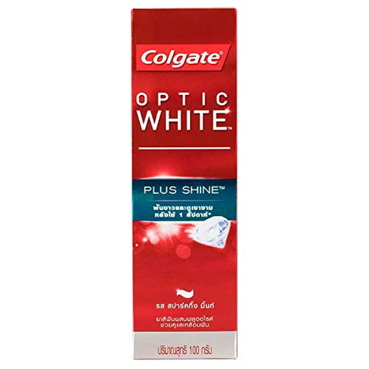 脊椎任命する傭兵(コルゲート)Colgate 歯磨き粉 「オプティック ホワイト 」 (プラス シャイン)