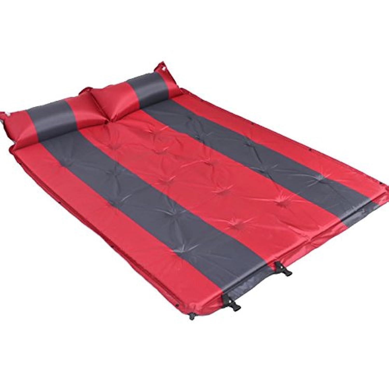 GYP アウトドアSUV一般的な車のベッドの自動充電マットレス防湿パッドの車の衝撃ベッドテントマットエアベッドエアクッション ( 色 : 赤 , サイズ さいず : 192*132*2.5CM )