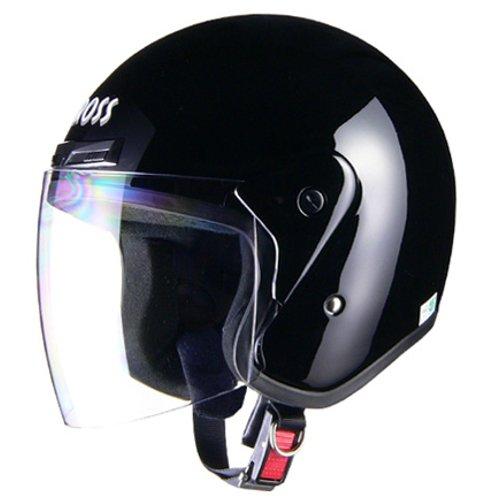 リード工業 バイクヘルメット ジェット CROSS CR-720 ブラック フリー 57~60cm未満
