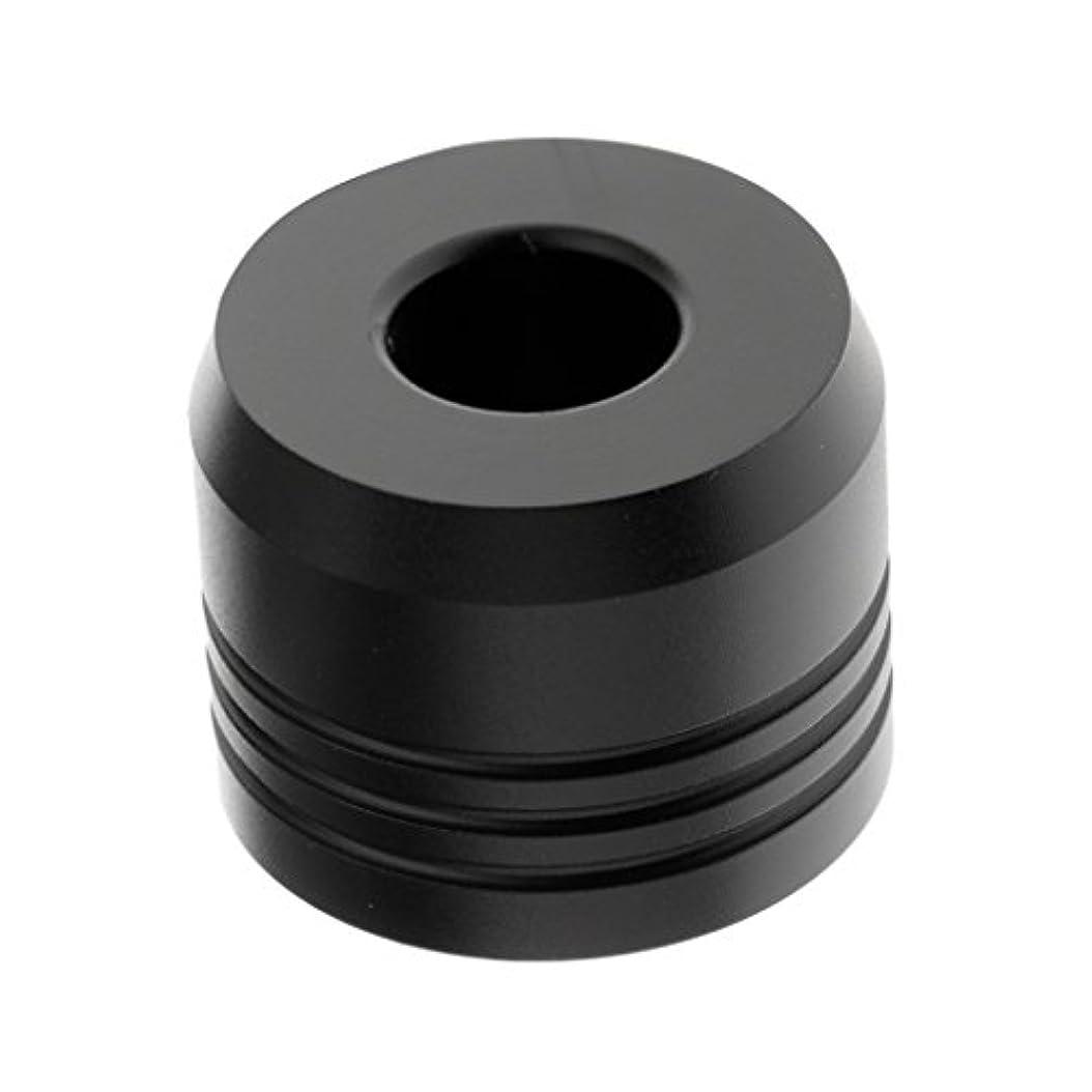植木楽観的入るカミソリスタンド スタンド シェービング カミソリホルダー ベース サポート 調節可 乾燥 2色選べ - ブラック